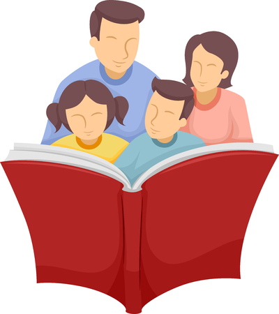 2 577 family reading cliparts stock vector and royalty free family rh 123rf com Parent Reading Clip Art OWL Reading Clip Art